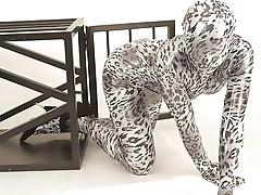 Flexible hot pussy inside spandex