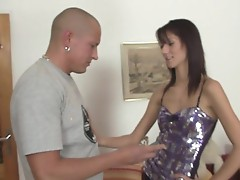 Cheating GF jumps onto his horny power tool