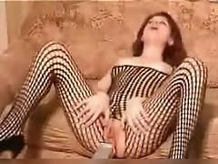 Kinky mum inside body fishnet shaged