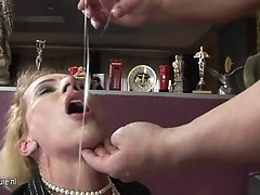 This mature dolls has a anal creampie