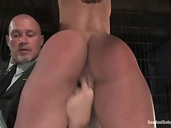 Busty prisoner used as xxx slave