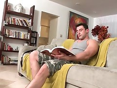 Dude riding gay cock on old sofa