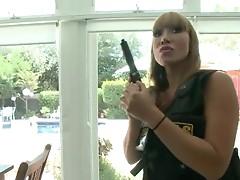Police chicks Ava Devine and Sara Jay get punished