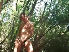 Twink Jerking Off Inside A Woods