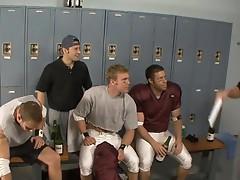 American football players Ari Sylvio, Drew Cutler and Tristan Jaxx fucking