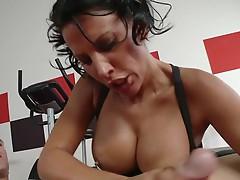 Busty pornstar Lezley Zen fucking large ramrod