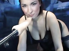 Free machine porn sex tube vid involving the brunette