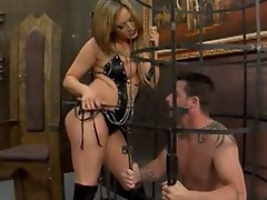 Hawt as fuck Tory Lane receives her sex slave to obey her