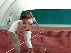Fucking in the tennis court
