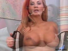 Breathtaking Busty milf wondrous Solo undress