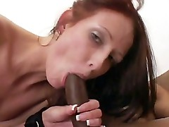 Hailey sucking off a Black Rod