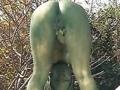 Free jav of Mad Asian bronze statue
