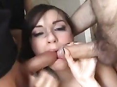 Lexi Love and Sasha Grey knobs enter their throat