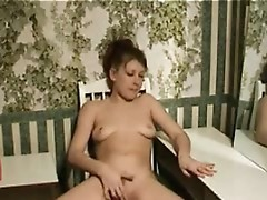 Awesome milf plugs inside her sex toy device