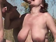 Horny MILF gets her hairy muf bumped
