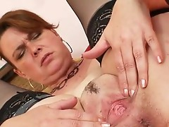 Amateur milf Lora nearly giant natural tits and rubber toy