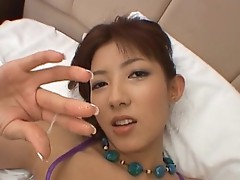 Hiromi aoyama chewing some joystick