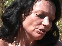 Horny MILF has got laid hard out of doors