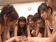 Beautiful Chinese girls learning their
