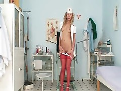 Nasty Nurse Vanesa cookie showcase at Kinky gyno clinic
