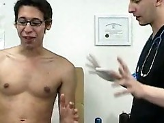 College lad has down to his underwear inside the doctor\\\'s office.