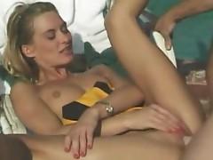 Sexy cheerleader pussy plowed