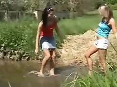Lesbian outdoor Pleasure
