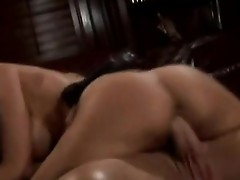 Excited whore Katie Morgan rides her warm love tunnel on a huge cock like a Cowgirl