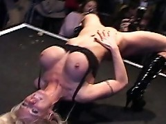Beautiful Blonde hotty near sexy tits Makes crowd go insane beside just a Few Minutes!