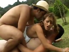 Latin Babe tweetie dp cock stuffing