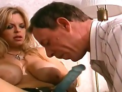 Great rack femdom doing a submissive guy