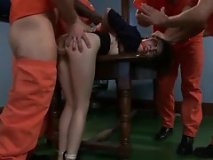Tegan Tate gets band made love by perverted prisoners