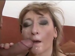 Large Natural Tits On This Mature Cumslut
