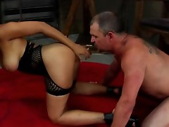 Hawt Goddess Isis satisfies her rear with her slave's moth !