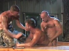 Brave soldiers Jake Deckard, Ricky sinz and Trey Casteel fucking