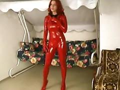 Hot girls in red spandex