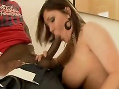 Scorching Claire Dames gets the thick weenie inside that boyr Mouth and loves it