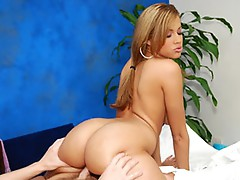 Hot sexy cutie Isis fucks her massage patient!