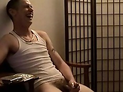 Twink jerking his dick