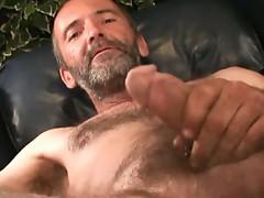 Bobby old gay masturbating his big cock