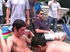 Fresh straight college guys get gay suck