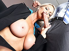 Emma Starr and Johnny Sins fucking in the office