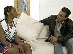 Ebony cheerleader balled 1