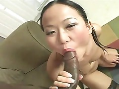 Exotic oriental doxy plays with dark sausage