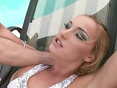 Kathia Nobili sexually excited hottie jack off off hard by the pool