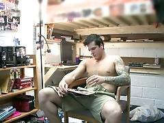 Straight dude having phone sex