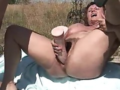 Horny Milf receives her curly muf drilled