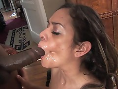 Estella leon receives her latin muff stretched