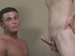 Straight Bobby gets amazing blowjob