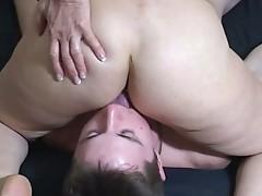 Woman licking womens ass holes
